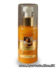 "24 Karat Gold Anti-Aging Exfoliating Scrub by Shahnaz Husain <font color=""#FF0000"">(NEW)</font>"